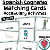 Spanish Cognates Matching Cards and Definite Indefinite Article Activities