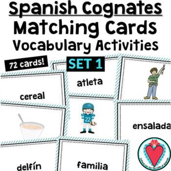 Spanish Cognates Cards Definite Indefinite Article Activities