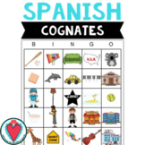 Spanish Cognates - Spanish Bingo Game for Beginning Spanis