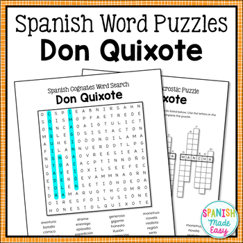 Don Quixote Spanish Word Puzzles