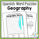 Spanish Cognates Word Puzzles: Geography Terms