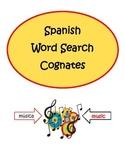 Spanish Cognates Word Search Puzzle