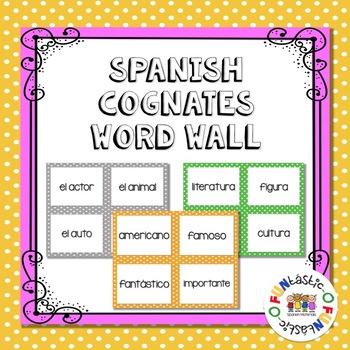 Spanish Cognates Word Wall