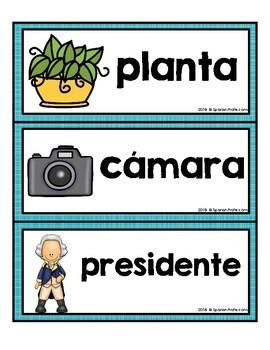 Spanish Cognates Word Wall (Los cognados)
