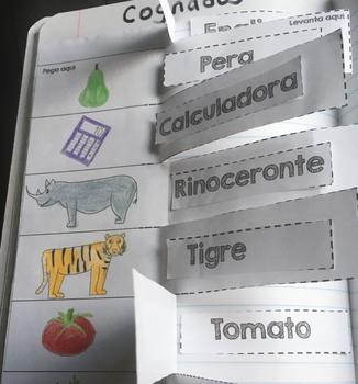 Spanish Cognates activity for Interactive Journal. Dual . Cognados Español