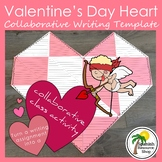 Collaborative Writing Valentine's Day Heart Template