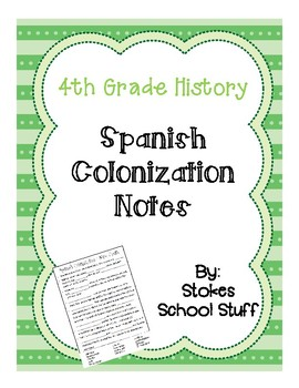 Spanish Colonization Notes