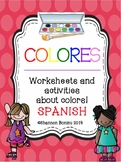 Colores - Spanish Color Unit worksheets & flashcards
