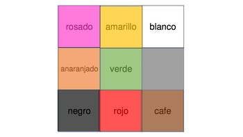 Spanish Color Bingo