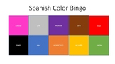Spanish Color Bingo