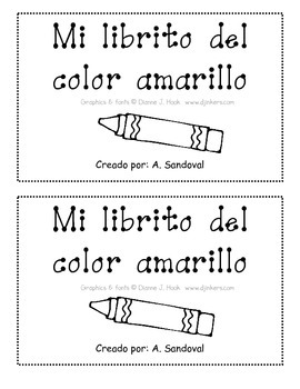 Color Books in Spanish