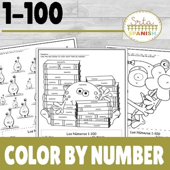 Spanish Color By Number 1-100
