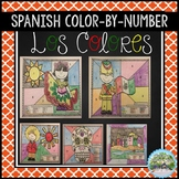 Spanish Color By Number Coloring Pages with Answer Keys