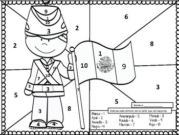 Spanish Number One Coloring Page - A Free Spanish Coloring ... | 263x350