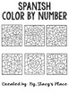 Spanish Color By Number (Los Numeros)