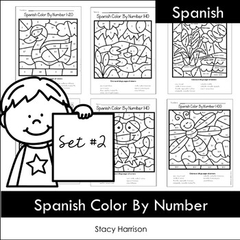 Spanish Color By Number (Los Numeros) (1-100), SET TWO