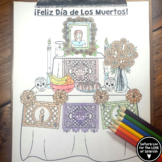 Spanish Color By Number - Spanish Day of the Dead - Dia de