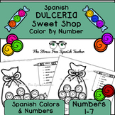 Spanish Color By Number and Color By Number WORD, Sweet Sh
