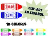 Spanish crayon clip art or name plates