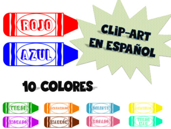 Spanish crayon clip art or name plates