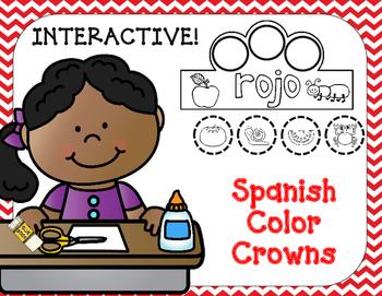 Coronas de colores:  Interactive Spanish Colors Crowns