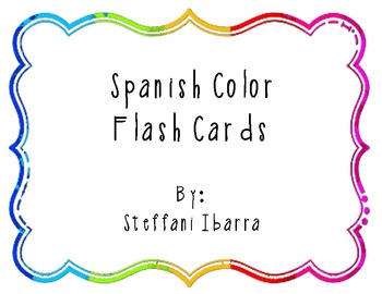 Spanish Color Flashcards