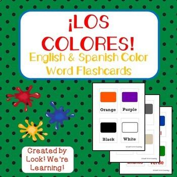 Spanish Color Flashcards - ¡Los Colores!