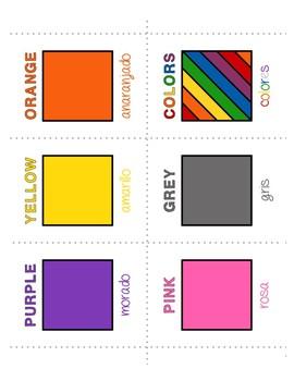 Spanish Color Games - Complete Set plus BONUS