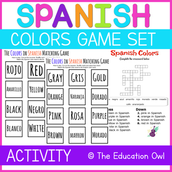 Spanish Color Learning Game Set
