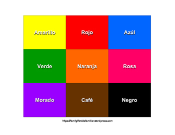 Spanish Color Match