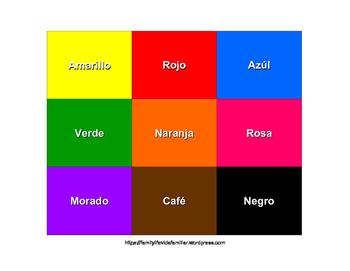 Spanish Color Match