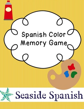 Spanish Color Memory/Go Fish Game Cards
