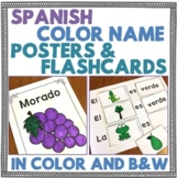 Spanish Color Name Posters and Flashcards