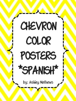 Spanish Color Posters-Chevron