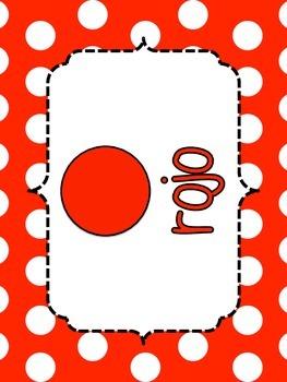Spanish Color Posters-Polka Dot