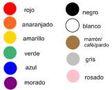 Spanish Color Smart Board Activity