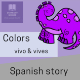 Spanish Color Story & Activities--¿Dónde Vives, Dinosaurio?