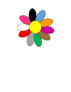 Spanish Color Wheel and Matching Activity