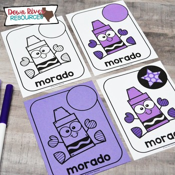Spanish Color Word Posters | Spanish Color Word Flashcards | Spanish Posters
