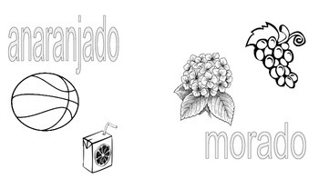 Spanish Color Words  Grades k, 1, 2  Booklet printable 6 sheets/cover