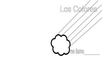 Spanish Color Words  Grades k, 1, 2  Booklet printable 6 s