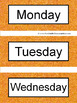 Spanish Days of the Week Pocket Chart Cards and Worksheets Español Orange