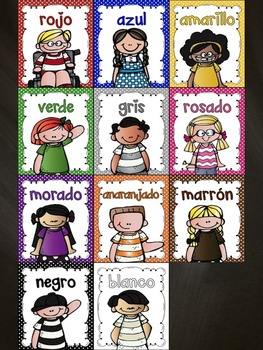 Spanish Color Words Posters