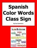 Spanish Color Words Sign - Los Colores
