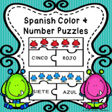 Spanish Sight Words Puzzles for Spanish Numbers 1-10 and Spanish Colors Activity