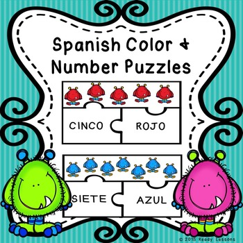Spanish Sight Words Puzzles for Spanish Numbers 1-10 and S