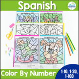 Spanish Color by Number 1-10, 1-20, 1-100