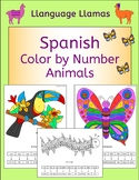 Spanish Color by Number Animal Pictures - los animales
