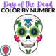 Spanish Day of the Dead Día de Los Muertos: Color by Number Sugar Skull