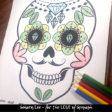 Spanish Day of the Dead Día de Los Muertos: Color by Number Sugar Skull